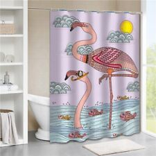 """HQ 69""""x70"""" 3D Printed Waterproof Fabric Bathroom Shower Curtain Set With Hooks"""