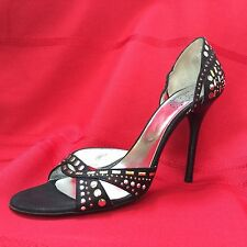 ICONE VERO CUCIO Made In Italy High Heel PROM Shoes SZ 38.5 (8.5) Excellent