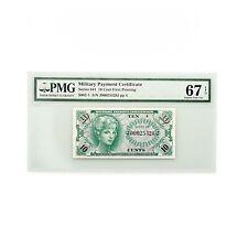 US MPC PMG Superb Gem Unc. 67 EPQ 10 Cents Series 641