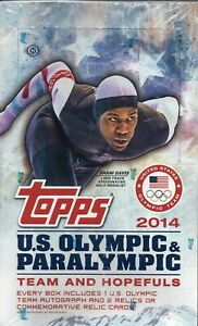 2014 TOPPS U.S. OLYMPIC & PARALYMPIC HOBBY BOX (3 AUTO/ RELIC PER BX)