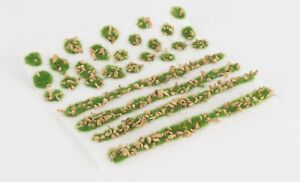 WWS 2mm Summer Alpine Static Grass Modeling Tufts/Strips Mix -Railroad Warhammer