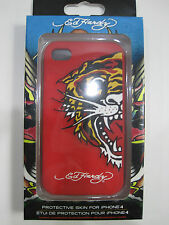 Ed Hardy Tiger Apple iPhone 4 Protective Skin / Case Colour Red