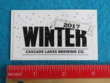 BEER STICKER ~ CASCADE LAKES Brewing Co 2017 Winter Ale ~ Redmond, OREGON Brewer