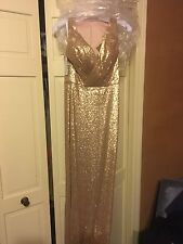 Bari Jay Bridesmaid Dress (Gold Sequin)