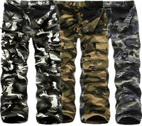 Men's Cotton Fleece Lined Camouflage Cargo Pockets Work Long Pants Trousers Lot