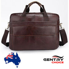 Men Leather Bag Shoulder Crossbody iPad Mini Laptop Messenger Short Bag