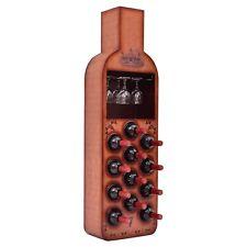12 Bottles Wine Rack Cabinet Wood Storage Bar Stand Liquor Bottle Shaped Shelf