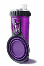Dexas Popware For Pets H-DuO Dual Chambered Hydration Bottle w/ Collapsible Dish