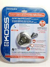 KOSS KSMP642-2 Personal Digital MP3 WMA FM Audio Player 64 MB NEW