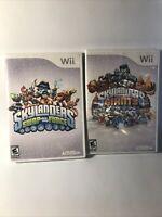 Lot of 2 Nintendo Wii games Skylanders: Giants- Skylanders: Swap Force No Manual