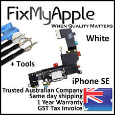 iPhone SE OEM White Dock Connector Port Microphone Flex Cable Jack Replacement