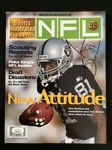 Tim Brown Signed Sports Illustrated Mag 10/20/95 No Label Raiders Autograph JSA
