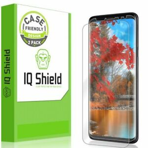 2x IQ Shield Clear Screen Protector for Galaxy S9 Ultimate Version Case Friendly
