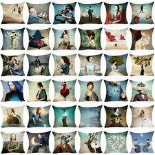 Cushion Cover Cotton Linen  Sofa  Cover Christian Pillow Case Throw Pillow