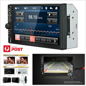 """7"""" 2Din Touch Screen Car Stereo Bluetooth USB FM MP5 Player+Remote Control -AU"""