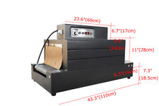 Automatic 220V Shrink Tunnel Packaging Machine 5.5KW Big Power 15.7