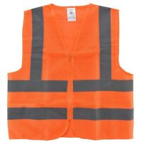 Orange Mesh High Visibility Safety Vest, ANSI/ ISEA 107-2010