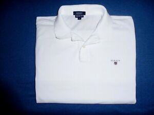 GANT  Regular Fit  Herren Poloshirt, Langarm,  Weiß,  Gr. XL - Neuwertig