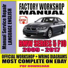 BMW SERIES 5 F10 2009 - 2017 FACTORY WORKSHOP SERVICE REPAIR MANUAL + WIRING