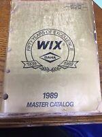 Vintage WIX Dana Master Catalog 1989 1939-1989