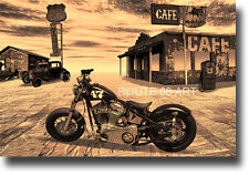 Harley Davidson Motorcycle Route 66 Art Print