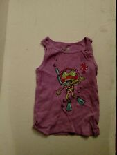 Jumping Beans Girls Purple Frog Tank Top Size-6