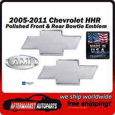 2005-2011 Chevrolet HHR Polished Billet Bowtie Front & Rear Emblem AMI 96103P