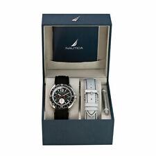 Nautica Men's Sport N09910G Black Resin Japanese Quartz Watch Gift Set