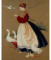 Feathers & Friends Butternut Road Cross Stitch Chart Free P&P