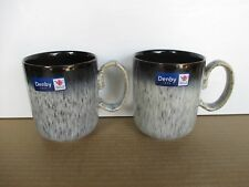 Denby Pottery Halo 2 x Straight Mugs New First Quality Excellent Condition