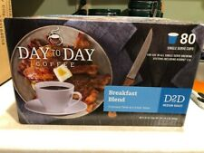 Day to Day Coffee Breakfast Blend Keurig cups 80 count New Fresh (K-Cups)