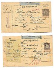 AUSTRIA- 1888- 3 postals forms from Marburg to Switzerland