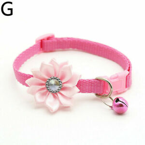 Cute Summer Buckle Adjustable Dog Cat Pet Collar Necklace Strap With Bells