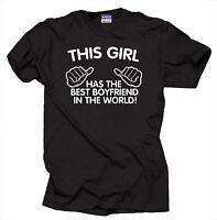 The Best Boyfriend In The World T-Shirt Couple Tee shirt anniversary shirts Gift