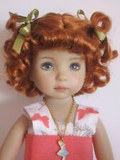 """perruque boucles poupée LD-tête18/19cm-Doll wig carrot sz7/8""""-FRANCE POUPEES"""