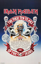 POSTER :MUSIC : IRON MAIDEN - FIRST 10 YEARS - FREE SHIPPING ! #3281 LW25 H