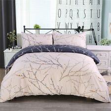 3Pcs Reversible Printed Duvet Cover Pillowcase Bedding Set Comforter Quilt Cover