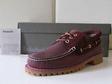 Timberland TFO Classic 3 Eye scarpe uomo barca pelle Burgundy Eu-45 €180