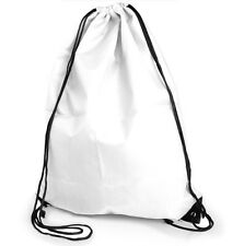 Gym Swim School Dance Shoe Boot PE Drawstring Bag ideal for sports carry - White