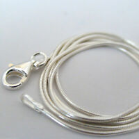 Sterling Silver 1mm SNAKE Chain Necklace Lobster Clasp 925 Italian Polished NEW