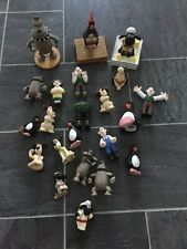 Wallace And Gromit 22 Piece Bundle - Resin & Rubber Figures Some Duplicates.