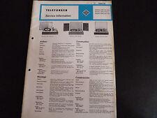 Original Service Manual Telefunken Musikus 108V 108V Stereo 108Z de Luxe