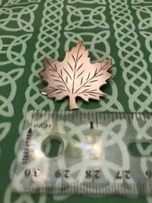 Signed DCJ Sterling Silver Canadian Maple Leaf Pin Brooch FREE SHIPPING
