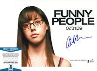 AUBREY PLAZA SIGNED 'FUNNY PEOPLE' 8x10 MOVIE PHOTO ACTRESS BECKETT COA BAS