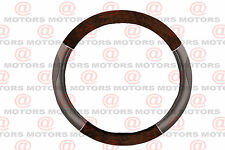 "Design Universal Fit Steering Wheel Cover Wood Chrome Grey 14"" Inch Confort Grip"