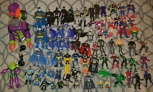 D.C. Comics Action Figures Mixed Lot of 60+ Figures and Parts