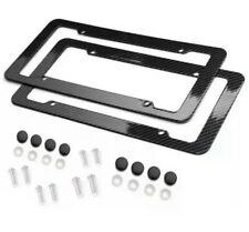 2x Universal Carbon Fiber Style License Plate Frames Bracket for Front & Rear Us