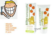 BILKAhomeopathy KIDS TOOTHPASTE FREE Fluoride,Free Sugar;Organic;Fruit aroma;2+