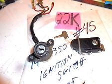 1974 YAMAHA RD350 IGNITION SWITCH & KEY # 2618 + LOCKING SEAT  LATCH