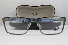 Ray-Ban RB 8415 2620 Silver/Blue Carbon Fiber New Authentic Eyeglasses 53mm Case